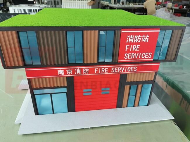 深圳深华建设消防站模型(1:25)