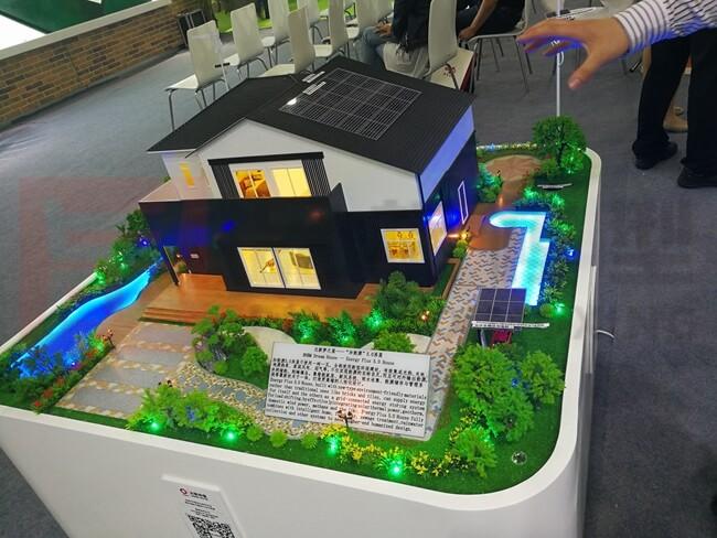 新能源智能居家别墅模型(1:25)